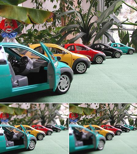 FocOz Picture of five model cars.